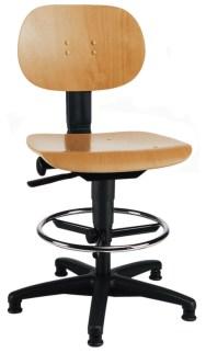 105214 Werkplaatsstoel,  standaardzitting natuur