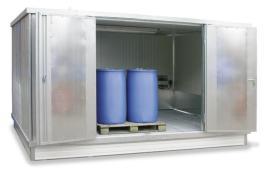 200413 container voor gevaarlijke stoffen,  geïsoleerd
