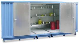 200425 container voor gevaarlijke stoffen,  geïsoleerd