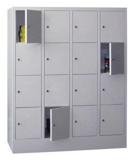 100913 lockerkast,  HxBxD 1518x1230x500mm