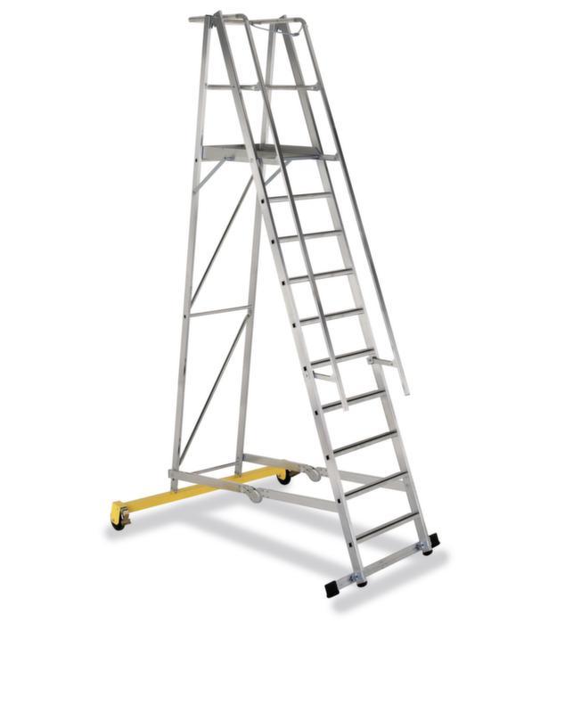 550282 Verrijdbare Platformladder,  bordes HxBxD 2600x600x630mm