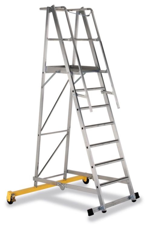 550249 Verrijdbare Platformladder,  bordes HxBxD 1800x600x630mm