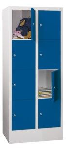 100908 lockerkast,  HxBxD 1518x630x500mm