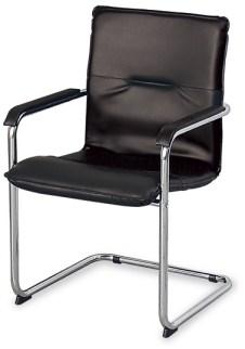 103206 Bezoekersstoel,  vrijzwaaiend ronde buis verchroomd