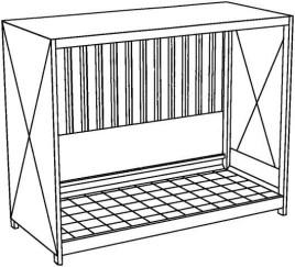 200326 Stellingcontainer V. Gevaarlijke Stoffen,  max. 10x200l vat