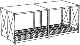 200342 Stellingcontainer V. Gevaarlijke Stoffen,  max. 40x200l vat