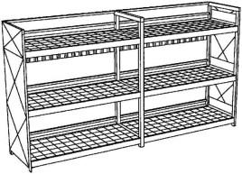 200669 Stellingcontainer V. Gevaarlijke Stoffen,  max. 60x200l vat