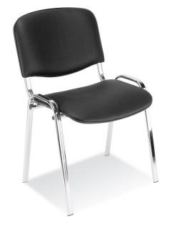 139571 Bezoekersstoel,  4 poten ovale buis verchroomd