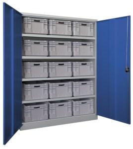 142283 zwaarlastkast met openslaande deuren,  HxBxD 1950x1470x630mm