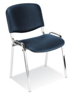 139573 Bezoekersstoel,  4 poten ovale buis verchroomd