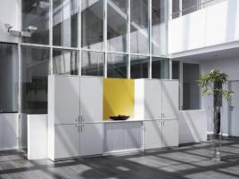 148176 kantoorkast met dwarse roldeuren,  HxBxD 1545x1200x445mm