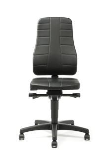 159375 Werkplaatsstoel,  zitting kunstleer zwart