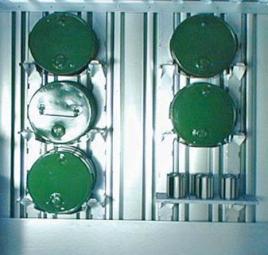 102581 Vatenstelling,  v. container voor gevaarlijke stoffen