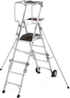 219804 Telescoop-Platformladder,  bordes HxBxD 1040-1800x400x500mm