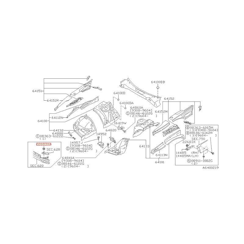 SILENTBLOC SUPERIEUR FIXATION INTERCOOLER R32 R33 R34 GTR