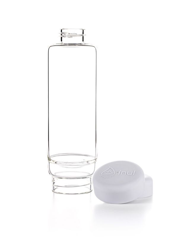 inu! glasflasche crystal cloud white
