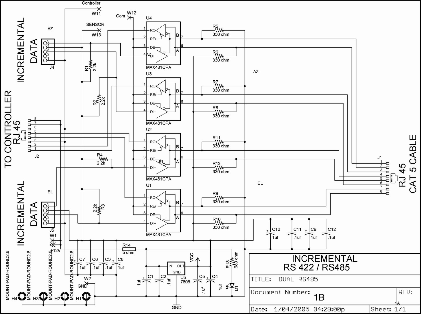 R 422 To Rs485 Wiring