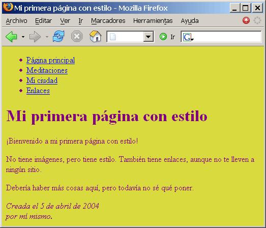 Imagen de la página con color en Firefox