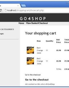 Displaying shopping cart summery using php also build  with part  programmers rh