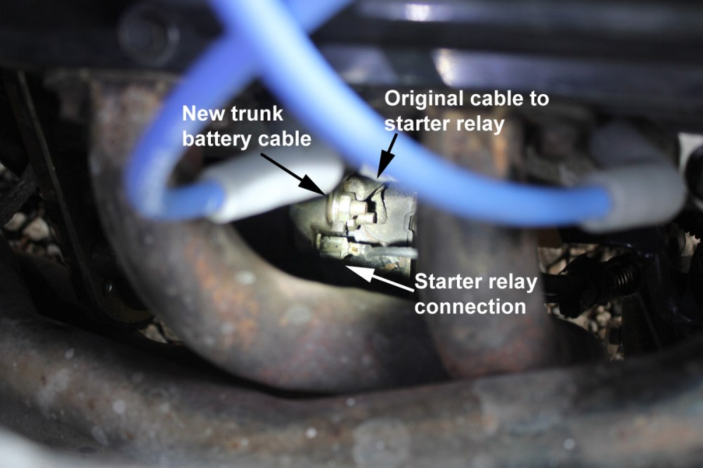 medium resolution of starter connections trunk mount battery
