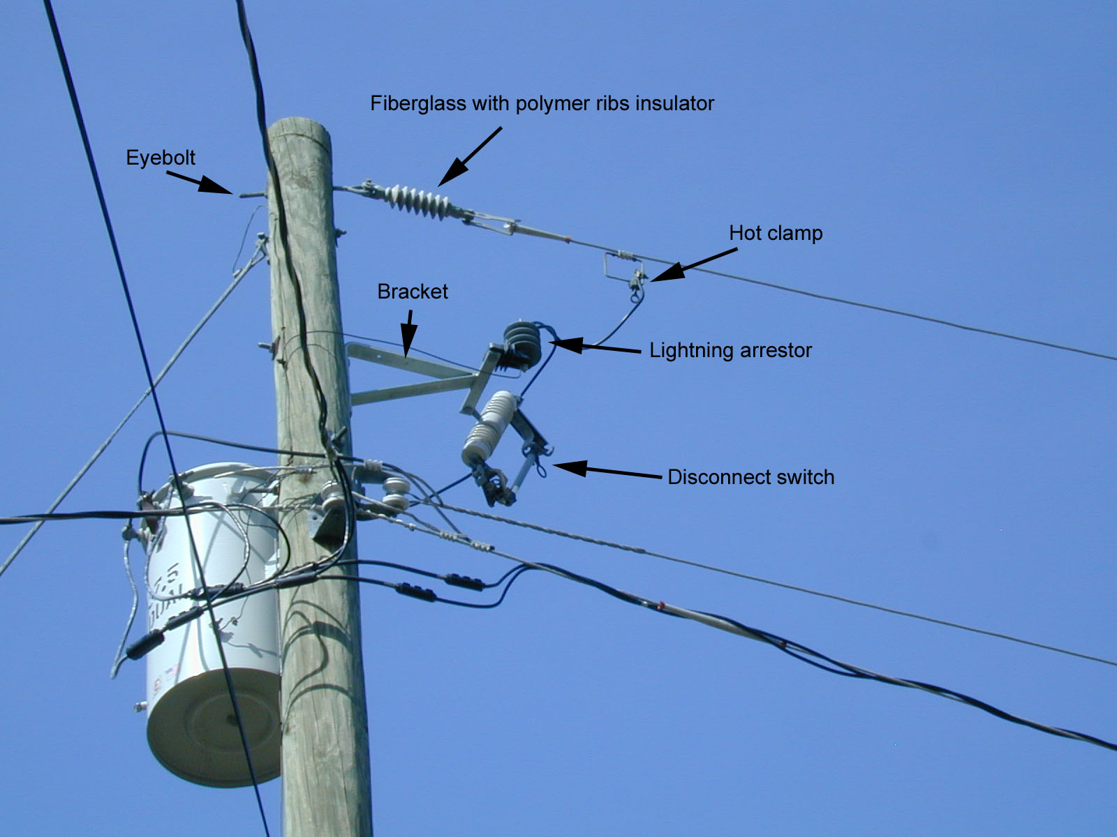 hight resolution of power pole noise hardware
