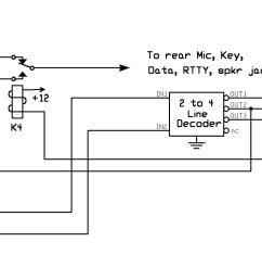 the above figure illustrates the simplified switching of the stationpro ii which allows independent selection of three transceiver exciters shown as trx1  [ 1859 x 771 Pixel ]