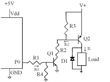 PNP Transistor switching