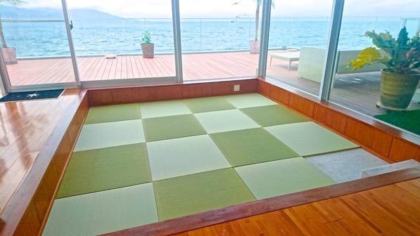 海が見える畳の部屋