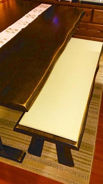 木製ベンチに畳をサイズオーダー