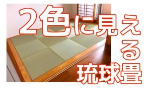 琉球畳が2色に見える仕組み