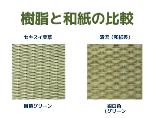 セキスイ美草とダイケン清流の比較