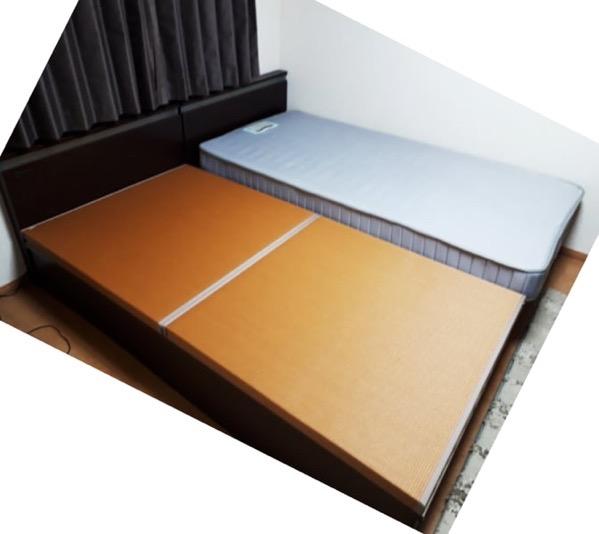 畳をベッドに