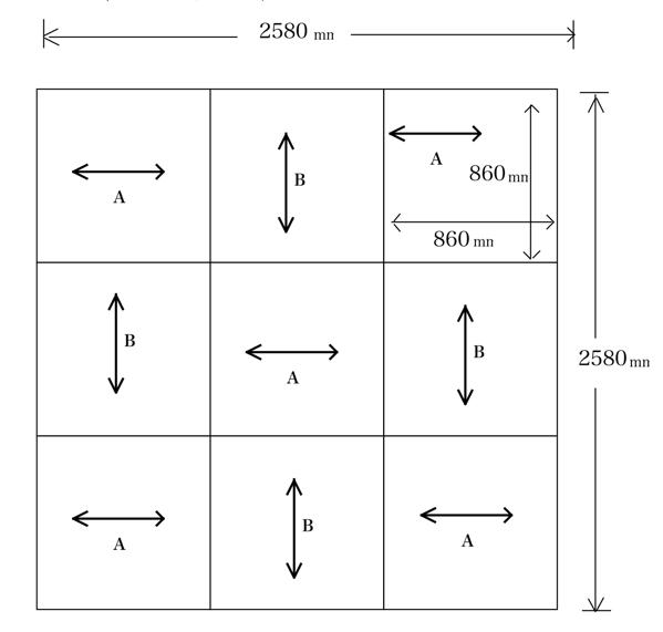 琉球畳の敷き方図面