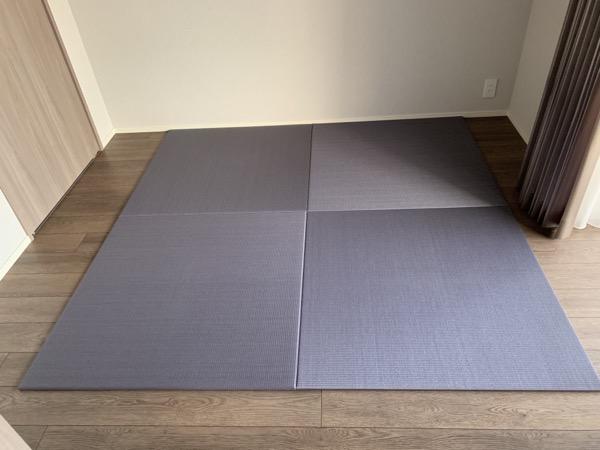 ブルーバイオレットの置き畳1メートル角