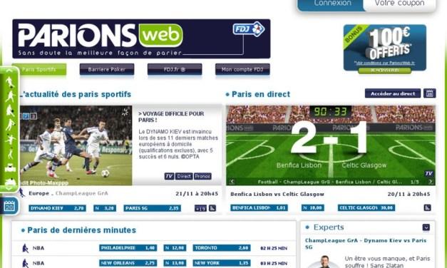 ParionsWeb : paris sportifs en ligne, pronostics sportifs