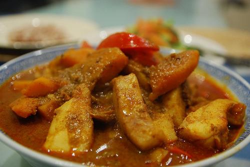 Curry de potiron (Gang Ped Fug Tong) (แกงฟักทอง)