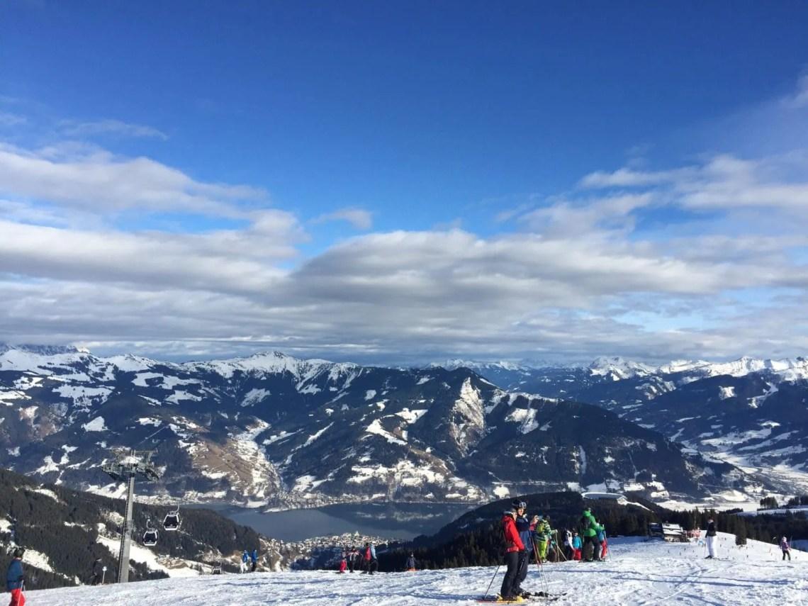 zell am see bergtop uitzicht