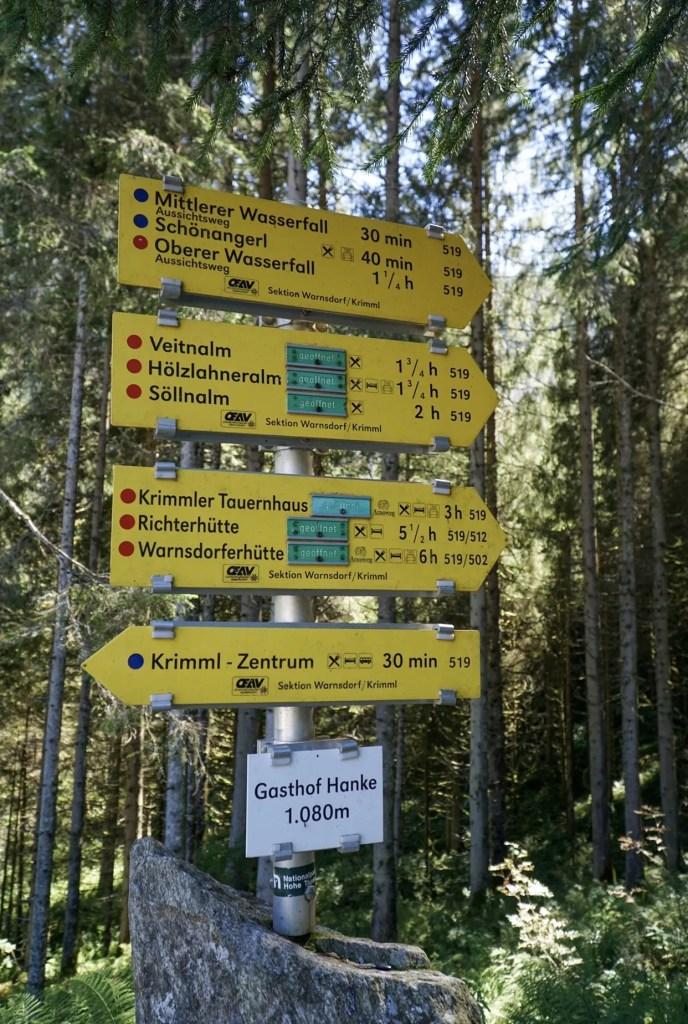 route krimmler watervallen