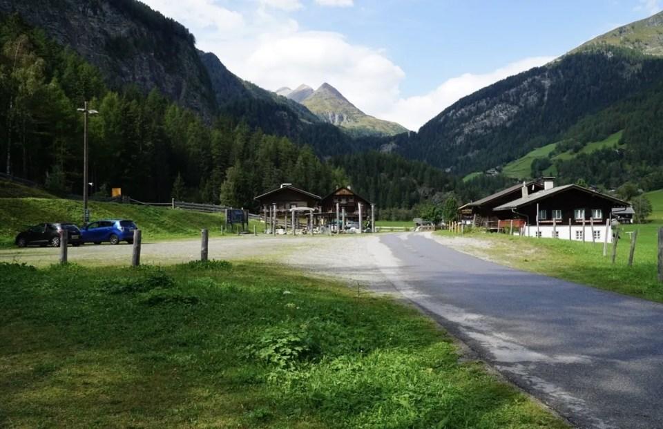 parkeren gössnitz waterval Heiligenblut