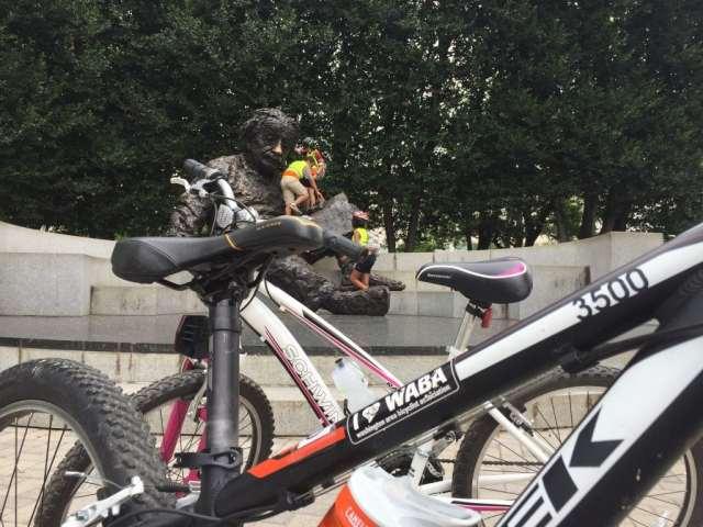 Bike Camp 2016 climbing Einstein