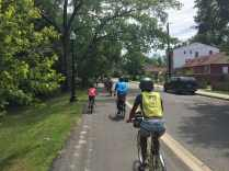Riding along the Marvin Gaye Trail