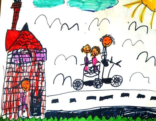 Family Portrait by Matilda R, age 5