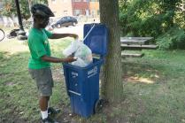 We strive to deposit trash on site as much as we can - less to bike around!