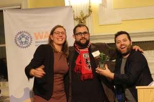 Dew Drop Inn partners Matt Szymanski and Nick McFarland, and presenter Laura Miller.