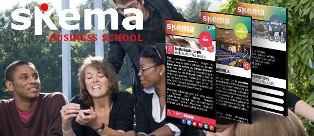 Skema Business School web app