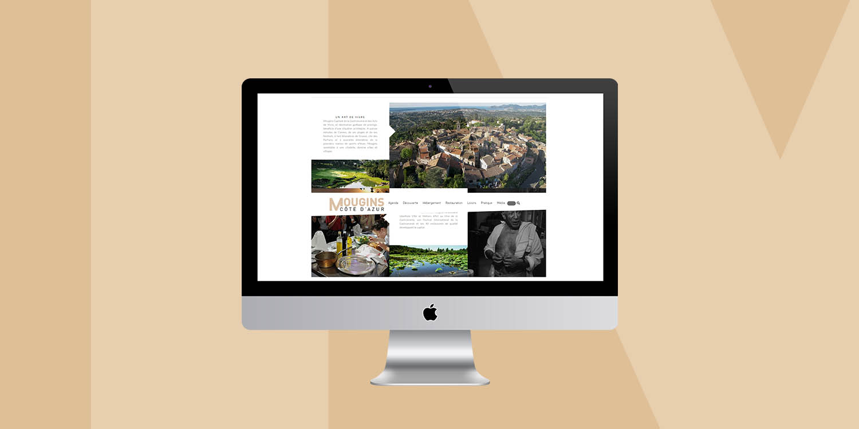 Page d'accueil de Mougins Tourisme - Agence Wacan