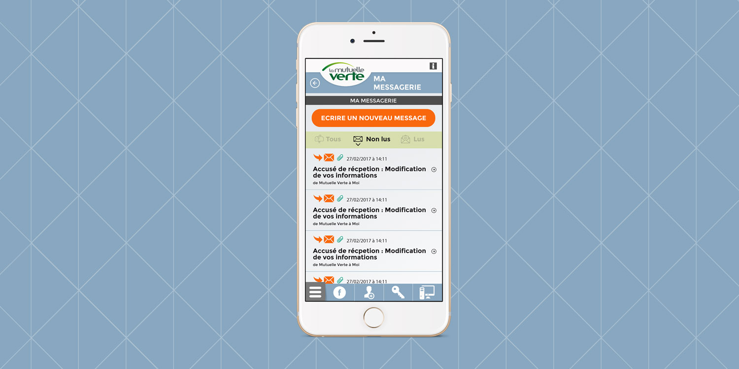 Mutuelle Verte, application mobile - Agence Wacan