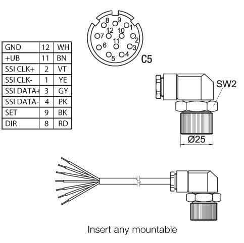 Wachendorff Automation encoders : Female connector KD-12