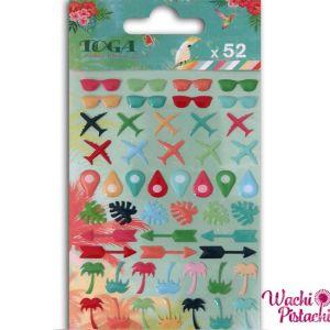 Pegatinas mini epoxi iconos Tropical Paradise -Toga