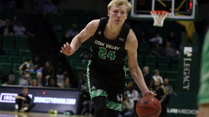 Utah Valley small forward Trey Woodbury
